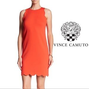 Vince Camino Scalloped Women's Dress Red